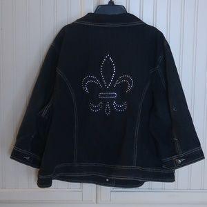 Ashley Stewart Jean Jacket Plus Size 22w